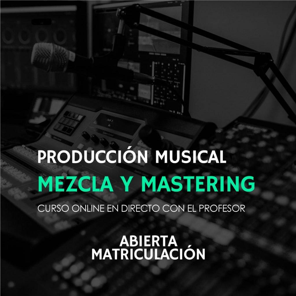 curso online de mezcla y mastering